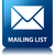 mailing list glossy blue reflected square button stock photo © faysalfarhan