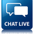 Chat live glossy blue reflected square button stock photo © faysalfarhan
