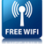 free wifi wlan network icon glossy blue reflected square butto stock photo © faysalfarhan