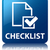 Checklist glossy blue reflected square button stock photo © faysalfarhan