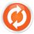 update icon orange button stock photo © faysalfarhan