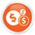 Dolar · ikona · pomarańczowy · przycisk · biały - zdjęcia stock © faysalfarhan