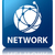 network global network icon glossy blue reflected square butto stock photo © faysalfarhan
