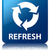 refresh update icon glossy blue reflected square button stock photo © faysalfarhan