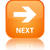 Next glossy orange reflected square button stock photo © faysalfarhan