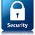 security padlock icon glossy blue reflected square button stock photo © faysalfarhan