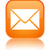 Email icon glossy orange reflected square button stock photo © faysalfarhan