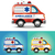 vector graphic illustration ambulance car blue orange yellow stock photo © feabornset