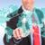 uomo · d'affari · scelta · giovani · sorridere · virtuale - foto d'archivio © feedough