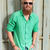 young fashion man with long beard laughing stock photo © feedough