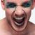 schreeuwen · ongebruikelijk · model · haren - stockfoto © feedough