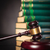 judges gavel in front of a pile of law books stock photo © feedough