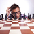 homem · tabuleiro · de · xadrez · tabuleiro · de · xadrez · pensando · xadrez · estratégia - foto stock © feedough
