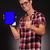 mode · man · presenteren · nieuwe · tablet · jonge - stockfoto © feedough