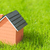 houten · huis · groene · dak · geïsoleerd · geven - stockfoto © feedough
