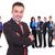 лидера · Постоянный · успешный · бизнес-команды · молодые · белый - Сток-фото © feedough