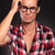 confused casual man with glasses stock photo © feedough