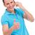 duim · omhoog · telefoon · zakenman · tonen - stockfoto © feedough