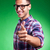 a casual young man pointing at the camera stock photo © feedough