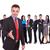 деловой · человек · рукопожатие · жест · команда · изолированный · успешный - Сток-фото © feedough