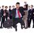 zakenman · aktetas · springen · jonge · hand · verticaal - stockfoto © feedough