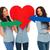 liefde · symbool · Rood · hart · jeans - stockfoto © feedough