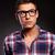közelkép · portré · férfi · visel · szemüveg · húz - stock fotó © feedough