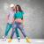случайный · пару · создают · молодые · позируют · женщину - Сток-фото © feedough