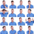 photo set of casual young man expressions stock photo © feedough