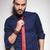 vonzó · fiatal · üzletember · fehér · póló · nyakkendő - stock fotó © feedough