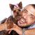 fickó · tart · aranyos · kutya · portré · férfi - stock fotó © feedough