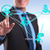 Business man pressing modern social buttons  stock photo © feedough