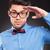 casual fashion man making a military salute stock photo © feedough