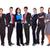 di · successo · felice · squadra · di · affari · uomini · d'affari · donne · isolato - foto d'archivio © feedough