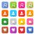 oy · görüntü · ayarlamak · düğmeler · mavi - stok fotoğraf © feelisgood