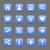 синий · атласных · икона · белый · фундаментальный - Сток-фото © feelisgood