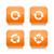 laranja · ícone · rotação · repetir · assinar - foto stock © feelisgood