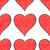 Seamless pattern with red heart sign stock photo © feelisgood