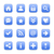 Blauw · satijn · icon · witte · fundamenteel - stockfoto © feelisgood