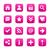 roze · satijn · icon · witte · fundamenteel - stockfoto © feelisgood