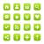 green satin icon web button with white basic sign stock photo © feelisgood
