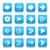 ダウンロード · ビデオ · 青 · ベクトル · アイコン · ボタン - ストックフォト © feelisgood