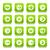 groene · vierkante · icon · 16 - stockfoto © feelisgood