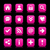 Pink satin icon web button with white basic sign stock photo © feelisgood