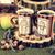 chá · velho · mesa · de · madeira · maçãs · nozes - foto stock © feelphotoart