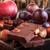 darabok · csokoládé · diók · fa · háttér · asztal - stock fotó © feelphotoart