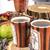 teáscsészék · teáskanna · felső · kilátás · űr · ital - stock fotó © feelphotoart