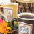 edad · café · molino · flores · taza · vintage - foto stock © feelphotoart