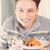 человека · десерта · пластина · молодые · улыбаясь - Сток-фото © feelphotoart