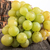 Fresh green grapes on wooden background stock photo © feelphotoart